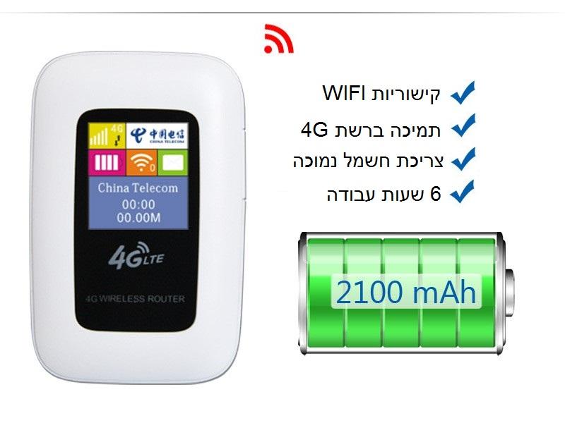 מעולה ראוטר - נתב אלחוטי נייד עוצמתי במיוחד מודם סלולארי SIM 3G כולל VN-04