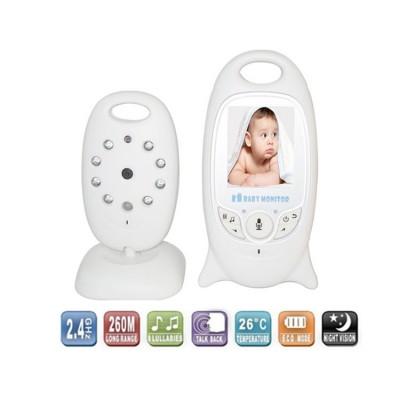 מוניטור לחדר תינוק עם מצלמת וידאו,דיבור וחיישן טמפרטורה