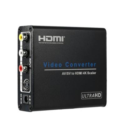 מתאם מקצועי AV RCA/S-Video ל HDMI